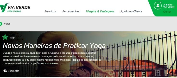 Via Verde e Yoga Tónico