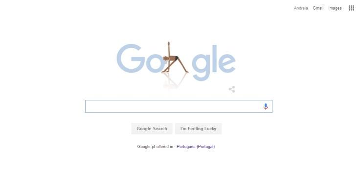 google's doodle on yoga