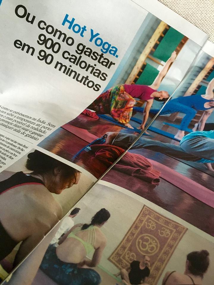 Artigo sobre o Hot Yoga no jornal i.